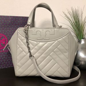 Tory Burch Alexa Leather Satchel Bag